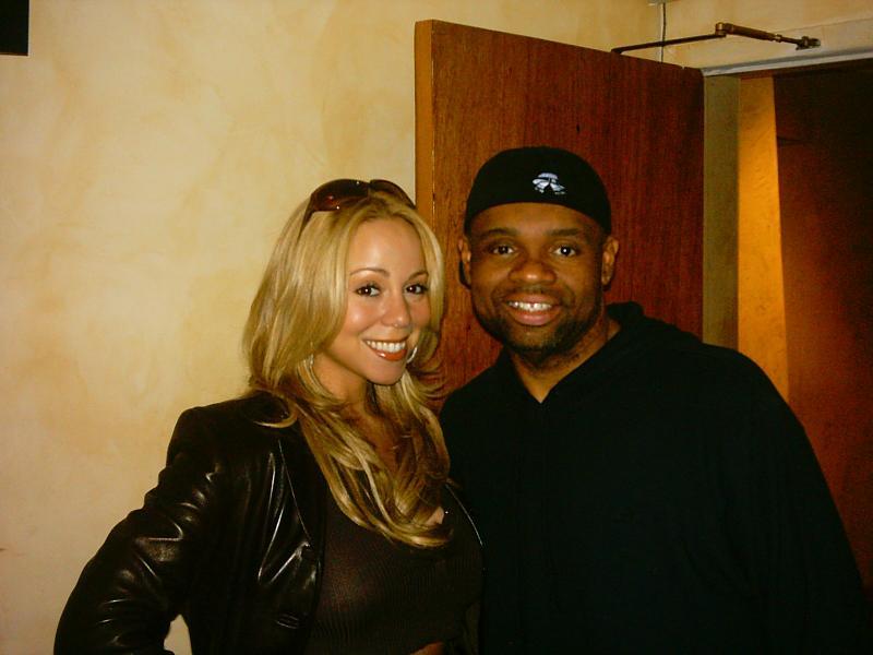 Mariah e Big Jim Wright em estúdio em 2004