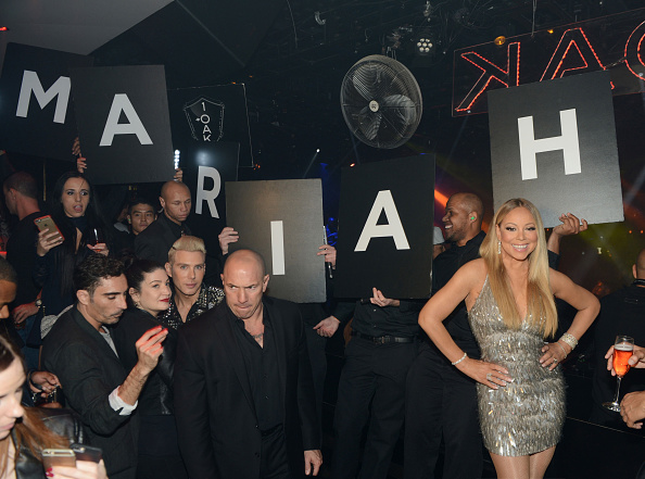 LAS VEGAS, NV - FEBRUARY 20:  Mariah Carey celebrates her 'Mariah #1 to Infinity' wrap party at 1 OAK Nightclub at The Mirage Hotel & Casino on February 20, 2016 in Las Vegas, Nevada.  (Photo by Denise Truscello/WireImage)