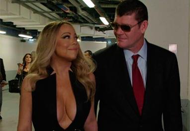 Mariah Carey com o bilionário James Packer. Foto: Instagram de Mariah Carey.