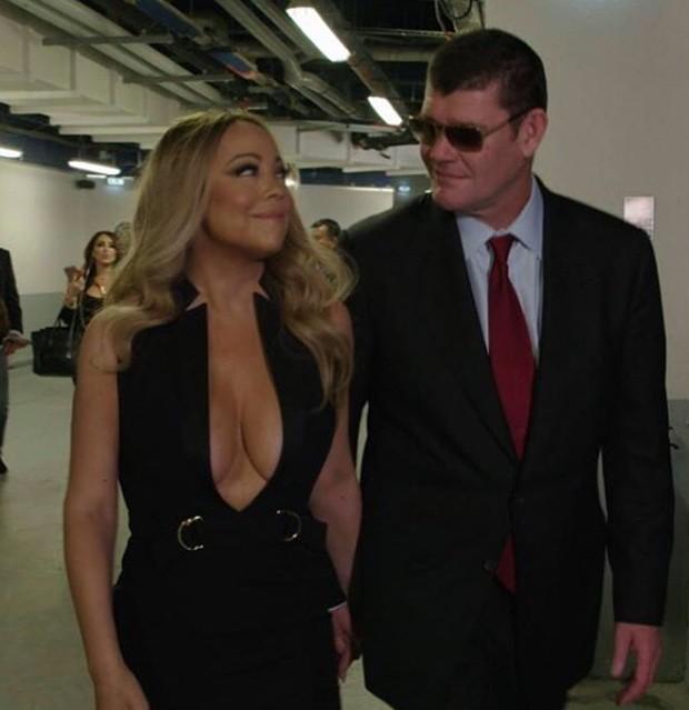 Mariah Carey com o noivo. Foto: Instagram.