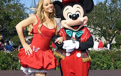Mariah Carey na Disney Christmas Parade.